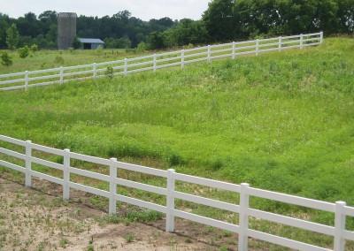 3 Rail Vinyl Ranch Fence