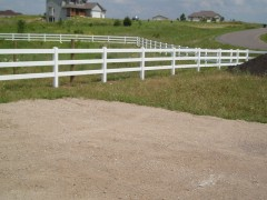 3 Rail Vinyl Ranch Fence