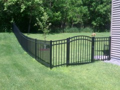 3 Rail Closed Picket Aluminum Ornamental Fence