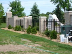 Aluminum Ornamental Fence w/ Columns View Three