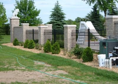 Aluminum Ornamental Fence w/ Columns View Three