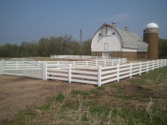 4 Rail Vinyl Ranch Fence