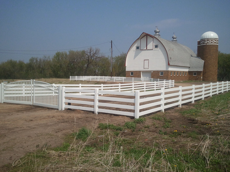Vinyl Ranch Fence Photo Gallery Fence Installation Mn