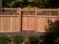 Spindle Top Cedar Fence Inside View