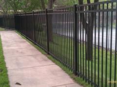 Closed Picket 3 Rail Ornamental Fence