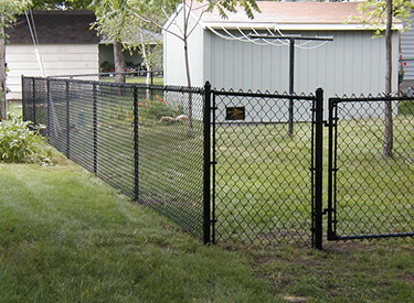 Isanti Black Chainlink Fence