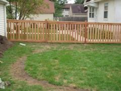 Cedar Closed Picket Fence