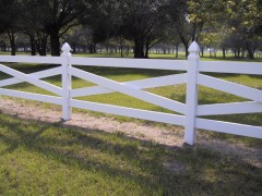 Crossbuck Vinyl Ranch Fence
