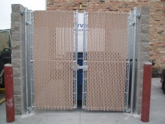 Chain Link Fence for Commercial Dumpster