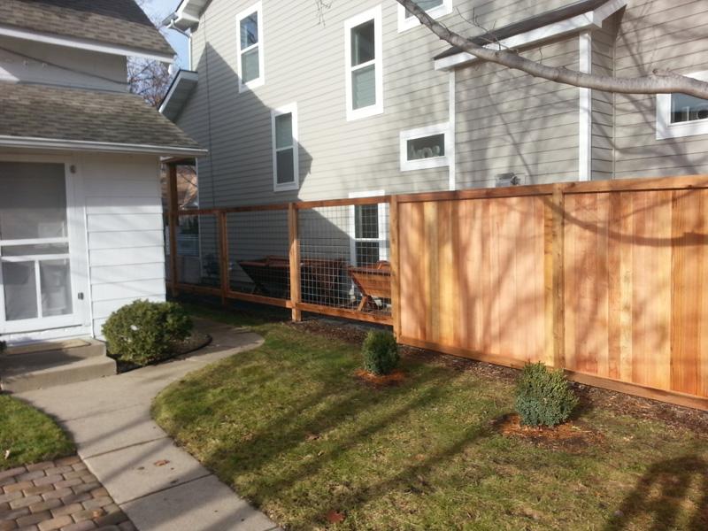 Minnesota Backyard Fence