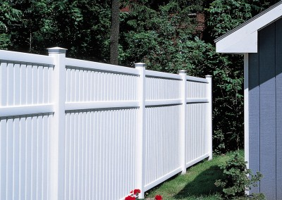 Imperial White Vinyl Privacy Fence