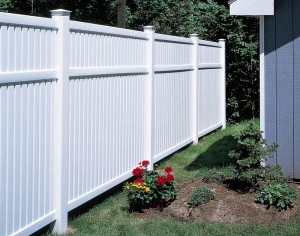 Maintenance Free Vinyl Semi Privacy Fence