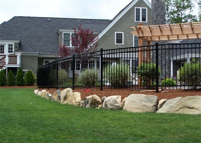 Ornamental Open Picket Fence Curved Install
