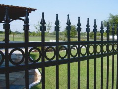 Open Picket Ornamental Fence w/ 3 Rails