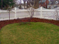 Vinyl Decorative Open Picket Fence w/ Narrow Spacing Wide Picket