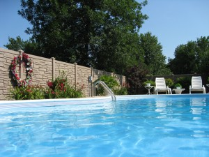 Pool Vinyl Privacy Fence Blaine MN