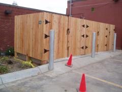 Cedar Privacy Solid Board Fence w/ Gates