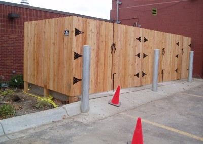 Cedar Privacy Solid Board Fence w/ Gates