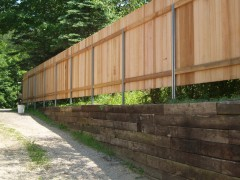 Cedar Privacy Solid Board Fence w/ Postmaster Inside
