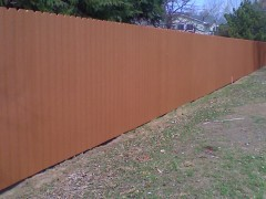 Cedar Privacy Solid Board Fence w/ Wood Framing & Composite Facia