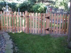 Traditional Cedar Dog Eared Picket Fence Gate