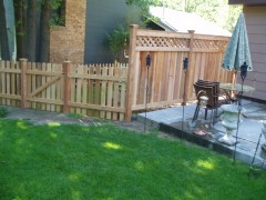 Traditional Cedar Picket Fence w/ Lattice Top Combo