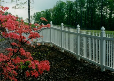 Vinyl Picket Ornamental Fence w/ Finials