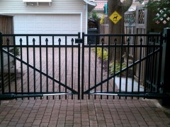 Aluminum Ornamental Fence Drive Gate