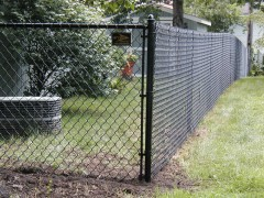 Black Vinyl Coated Chain Link Fence 1