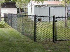 Black Vinyl Coated Chain Link Fence 2