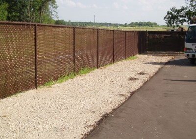 Brown Vinyl Coated Chain Link Fence w/ Slats