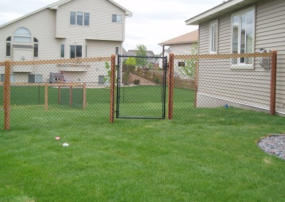 California Style Chain Link Fence w/ Steel Frame Gate