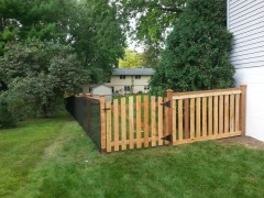 California Style Cedar Closed Picket w/ Arched Gate