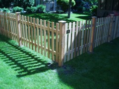 Dog Eared Cedar Picket Fence
