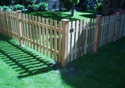 Dog Eared Cedar Picket Fence