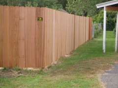 Solid Board Cedar Fence