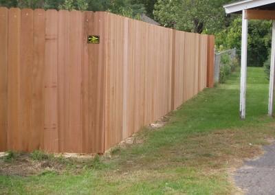 Solid Board Cedar Fence