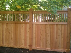 Spindle Top Cedar Fence Outside View