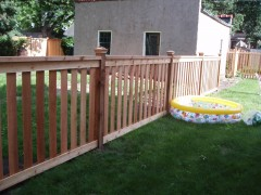 Cedar Closed Picket Framed Picket Fence