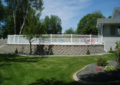 Wide Space Vinyl Closed Picket Fence