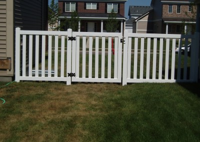 Wide Space Closed Vinyl Picket Fence