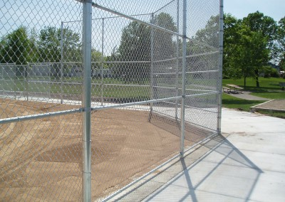 Chain Link Fence for Commercial Backstop