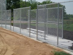 Chain Link Fence for Commercial Dugout