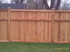 Cedar Privacy Framed Board on Board Fence
