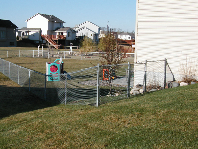 Galvanized chain link fence photo gallery