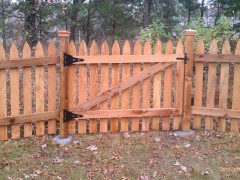 Gothic Picket Fence Inside View