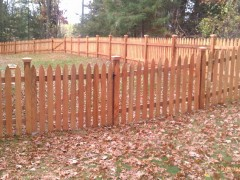 Gothic Picket Fence Outside View