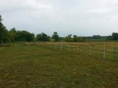 Green Treated 3 Rail Fence