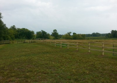 Green Treated 3 Rail Fence
