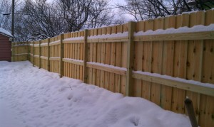 Wood Privacy Fence MN